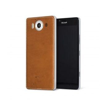 Mozo kryt pro bezdrátové nabíjení pro Lumia 950 XL, hnědý