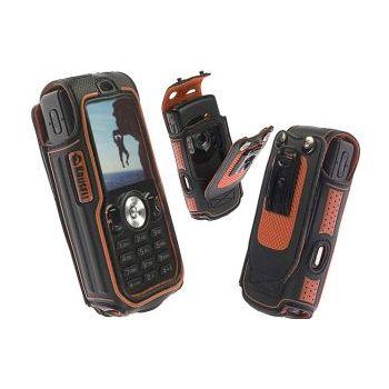 Krusell pouzdro Active - Sony Ericsson W810i/W800i/W700i/K750i - černá/oranžová