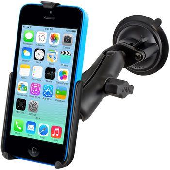 RAM Mounts držák na iPhone 5C do auta s extra silnou přísavkou na sklo, sestava RAM-B-166-AP16U