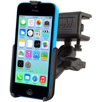 RAM Mounts držák na iPhone 5C s úchytem do letadla na clonu / na desku tloušťky 4,4 - 28,0 mm, sestava RAM-B-177-AP16U