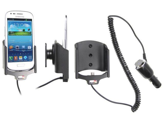 obsah balení Brodit držák do auta pro Samsung Galaxy S III Mini s nabíjením + adaptér pro snadné odebrání držáku z proclipu