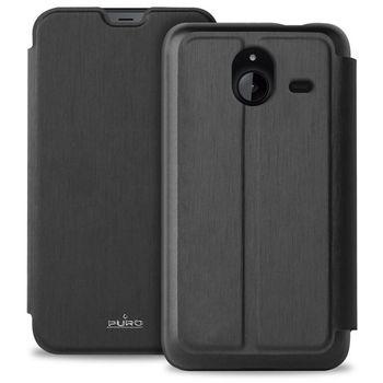 Puro flipové pouzdro s kapsou pro Microsoft Lumia 640 XL, černá