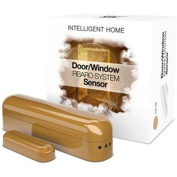 Fibaro bateriový Senzor (magnetický kontakt) na okna a dveře, béžový