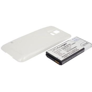 Baterie pro Samsung Galaxy S5 5600mAh rozšířená bílý kryt