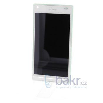 Náhradní díl LCD Display + dotyková deska + přední kryt Sony E5823 Xperia Z5compact bílý