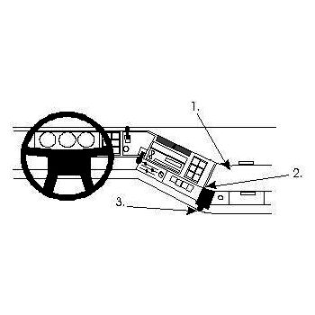Brodit ProClip montážní konzole pro Volvo FH/NH series 94-02, na střed