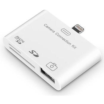 Adaptér 2v1 - čtečka SD karet/USB pro Apple iPad mini/iPhone 5