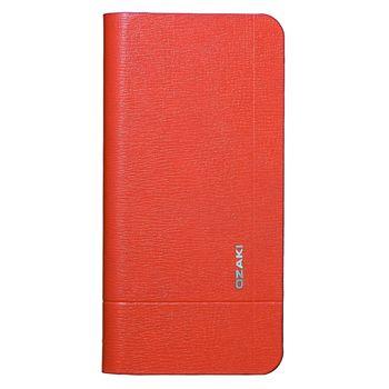 Ozaki flipové pouzdro pro iPhone 5/5S O!coat_Aim_vitality, oranžová