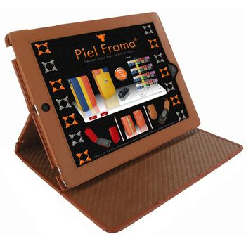 Piel Frama pouzdro pro iPad 4 Cinema, Ostrich Tan