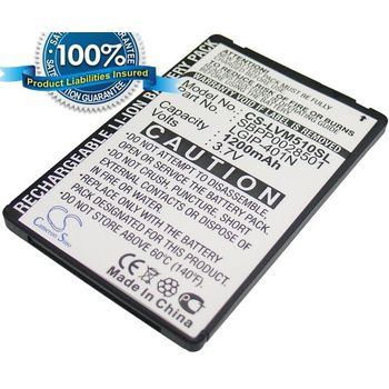 Baterie pro LG E720 Optimus Chic LN510, Li-ion 3,7V 1200mAh