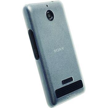 Krusell FrostCover kryt  - Sony Xperia E1, bílá transparetní