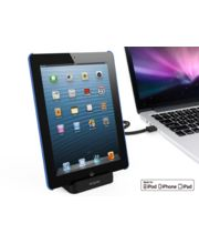 Kidigi dobíjecí a synchronizační kolébka pro iPad, iPad mini a iPhone 5/5S/5C/SE a 6/6plus, černá
