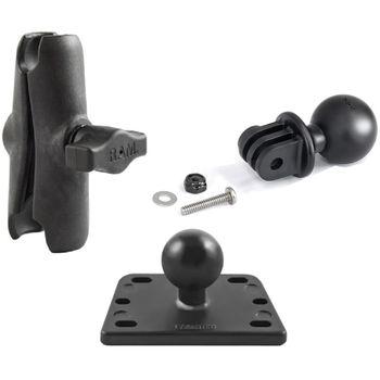 RAM Mounts adaptér pro outdoorové kamery GoPro Hero na motorku na nádržku brzdové kapaliny, sestava RAM-B-182-GOP1U