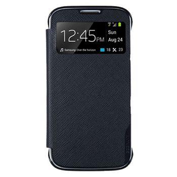 ANYMODE pouzdro typu kniha pro Samsung Galaxy S4 s funkcí S-view, PU kůže, černé