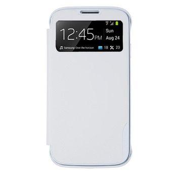 ANYMODE pouzdro typu kniha pro Samsung Galaxy S4 Mini s funkcí S-View, PU kůže, bílé