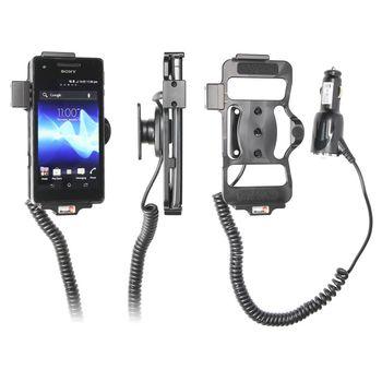 Brodit držák do auta na Sony Xperia V s nabíjením bez pouzdra, s nabíjením z cig. zapalovače