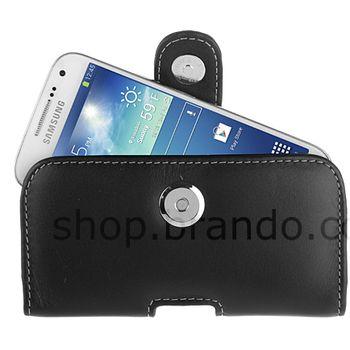 Brando kožené pouch pouzdro pro Samsung Galaxy S4 mini, černé