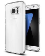 Spigen pouzdro Neo Hybrid Crystal pro Galaxy S7 edge, stříbrné