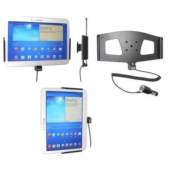 Brodit držák do auta na Samsung Galaxy Tab 3 10.1 bez pouzdra, s nabíjením z cig. zapalovače