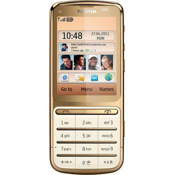 Nokia C3–01 Gold + souprava příslušenství do auta Nokia