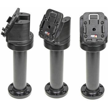 Brodit set otočného montážního podstavce a MultiMove clipu, výška 215 mm, sklon 60°, černý