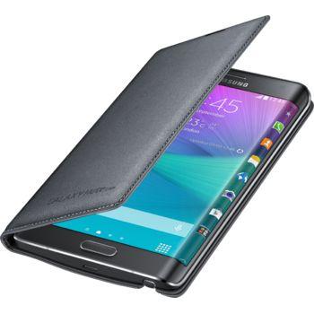 Samsung flipové pouzdro s kapsou EF-WN915BC pro Galaxy Note Edge, šedé