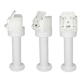 Brodit set otočného montážního podstavce a MultiMove clipu, výška 215 mm, sklon 60°, bílý