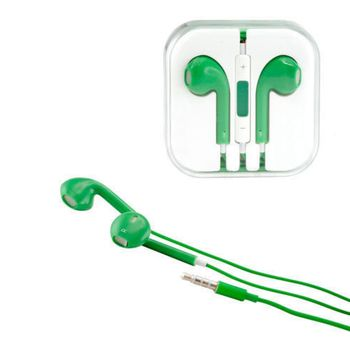 Sluchátka 3,5mm jack, ovladač hlasitosti, mikrofon, zelená