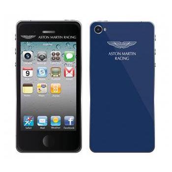 Aston Martin Racing dekorativní fólie pro Apple iPhone 5/5S, modrá