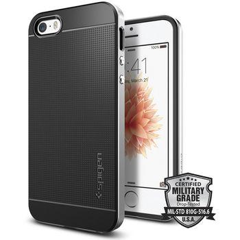 Spigen pouzdro Neo Hybrid pro iPhone SE/5s/5, stříbrná