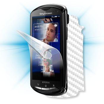 Fólie ScreenShield Sony Ericsson - Xperia Pro displej+carbon bílý