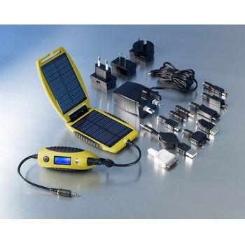 Lightmonkey - svítilna k nabíječkam Powertraveller + Solární outdoorová záložní nabíječka Powermonkey-eXplorer: panely + powerbank 2200mAh (žlutá)