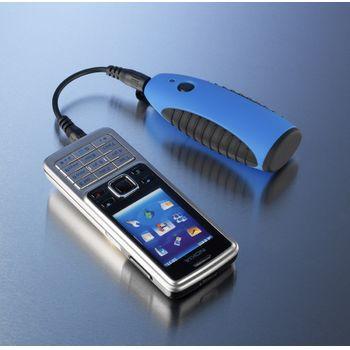 Lightmonkey - svítilna k nabíječkam Powertraveller + Záložní zdroj a nabíječka Powerchimp na dvě AA baterie (modrá)