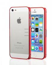 Esperia hliníkový rámeček pro Apple iPhone 5/5S, červený