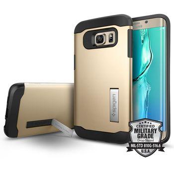 Spigen pouzdro Slim Armor pro Galaxy S7 edge, zlaté