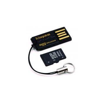 Kingston microSDHC 8GB Class 4 paměťová karta + miniSD a SD adaptér + čtečka microSD