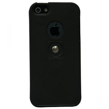 Tetrax XCase Silikonové pouzdro pro Apple iPhone 5/5S černá pro magnetický držák
