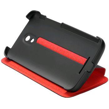 HTC flipové pouzdro se stojánkem Double Dip Flip HC V911 pro HTC Desire 500, černo červené