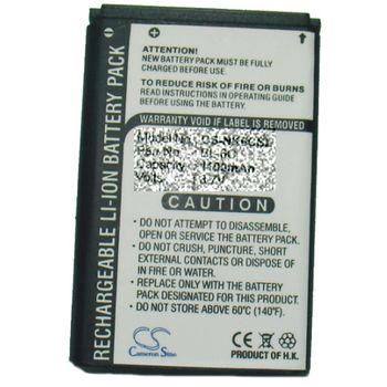Baterie Nokia N95 (1250mAh - rozšířená + zadní kryt), BL-5F, BL-6F