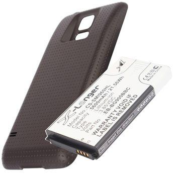 Baterie pro Samsung Galaxy S5 5600mAh rozšířená hnědý kryt
