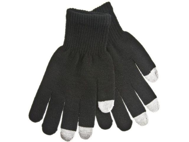 obsah balení Zimní kapacitní rukavice v černé a šedé barvě - M - pro iPhone, iPad, HTC, Samsung, LG, Motorola, SonyEricsson