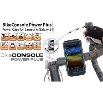 Držák BikeConsole Powerplus pro Samsung Galaxy S II se záložním akumulátorem 1100mAh + microusb síťová nabíječka