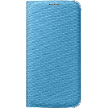 Samsung flipové pouzdro s kapsou EF-WG920BL pro Galaxy S6, textilní, modrá