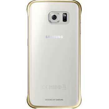 Samsung ochranný zadní kryt EF-QG925BF pro Galaxy S6 Edge, zlatá