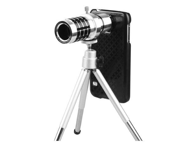 obsah balení 12x teleskopický objektiv + PanzerGlass sklo pro Samsung Galaxy S5