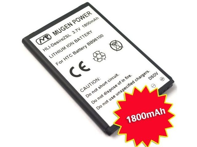 obsah balení Mugen Power Extended Battery 1800mAh for HTC Desire S/Desire Z/Incredible S
