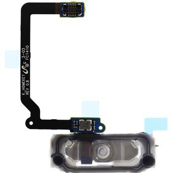 Náhradní díl Home tlačítko s flex kabelem pro Samsung G900 Galaxy S5, černá