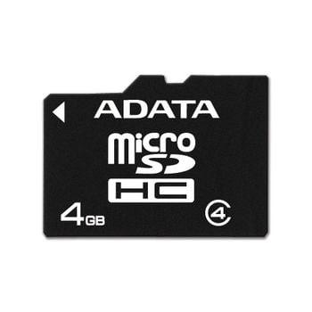 Adata microSDHC 4GB Class 4 paměťová karta + adaptér SDHC