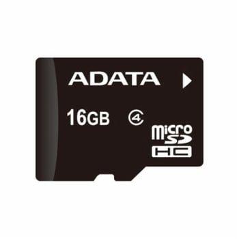 Adata microSDHC 16GB Class 4 paměťová karta + adaptér SDHC, rozbaleno