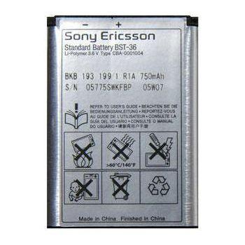 Sony Ericsson baterie BST-36 750mAh eko-baleni